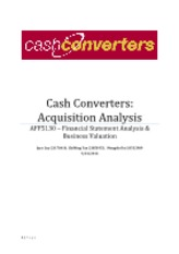AFF5130 - Cash Converters Acquisition analysis 24.05.12