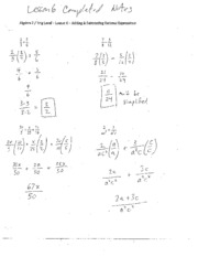 Rational Expressions Extension