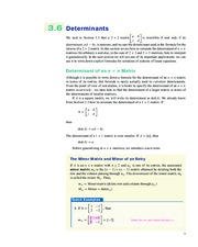 Determinants and Cramer's Rule