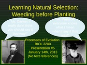07 - Presentation #5 - Why Learning Natural Selection is Difficult
