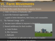 f.  Farm Movements