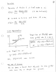 ECON 6500 Linear Approximation Notes