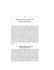 Chapter 17 Alignment between Risk and Capital Management