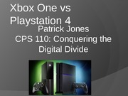 Xbox One vs  Playstation 4 student made
