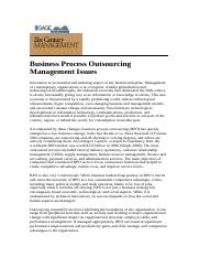 BusinessProcessOutsourcingManagementIssues.doc