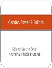 Gender, Power & Politics