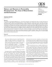 nature vs nurture in personality develipment the case of neuroticism and extraversion.pdf