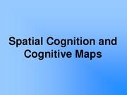 Lecture 26 Spatial Cognition