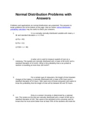 Normal Distribution questions and  Answers.docx