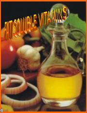 119 Fat Soluble Vitamins