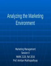 session 4 _ Analyzing the Marketing Environment