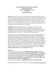 Culture and Ethnography Essay Fall 2014(2)