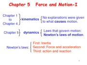 Chapter5 Force and Motion