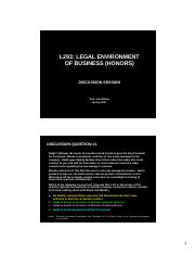 CD05 (Spring 2017) - Agency & Employment Law & Warranties