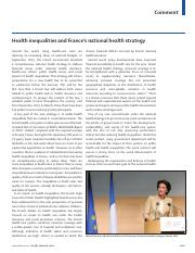 4_5_The Lancet 2014_Health Inequalities and France's National Health Strategy_March 2014