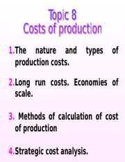 Topic 8 cost - копия.ppt