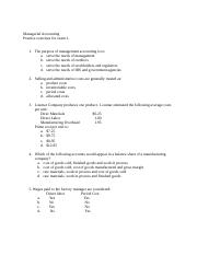 Managerial Accounting practice exercises for exam 1.docx