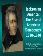 HIST2301, Jacksonian America (2015 version)