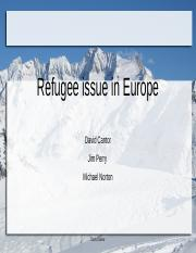 Refugee issue in Europe