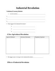 Industrial Revolution ppt wksheet