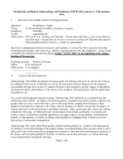 syllabus for ANTH 1001, section 1, fall 2012