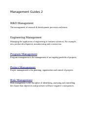 Management Guides 2