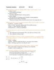 population estimation 2.26 questions
