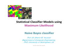 Max Likelihood Baysian Naive Classifier - PDF