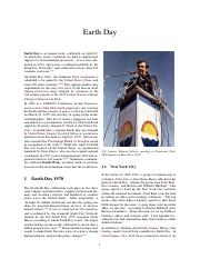 1970 FIRST Earth Day