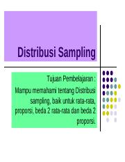 8. Distribusi Sampling