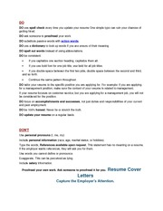 Resume-Cover Letter-Interviewing Tips