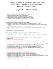 CH 30 Monetary Policy copy