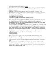 5 - Strict Liability and Product Liability.docx