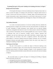 Research Proposal on the Impact of E-banking trust building