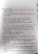 EDN 200 Social Inequality in Education Notes