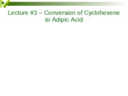 Lecture 3 Adipic Acid 020410