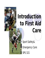 1.Introduction to First Aid Care