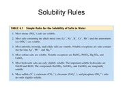 Experiment 4 - Solubility Rules