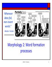 11_morphology2 pdf - Whenever ideas fail men invent words