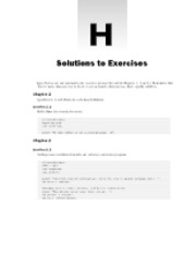 Solutions of Excercise
