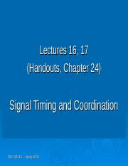 Lecture16 and 17 - Signal Coordination.ppt