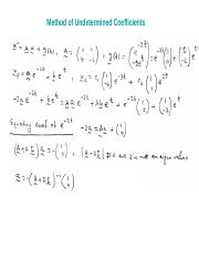 On the method of Undetermined Coefficients ppt