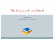 The History of the Novel
