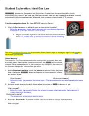 Ideal Gas Law Gizmo.docx - Ideal Gas Law Gizmo Packet ...
