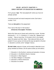 Ed 201 Activity - Chapter 4 Early History 03