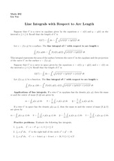 Lecture 17 on Line Integrals with Respect to Arc Length