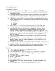 Ap us history exam essay rubric college