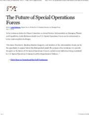 7-11-12 CFR Future of Special Ops Forces