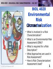 BIOL 4020-F2017-Lecture 14-Risk Assessment-posted.pptx