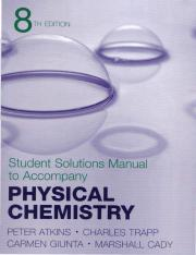 Atkins Physical Chemistry 8th student solution manual (SSM)